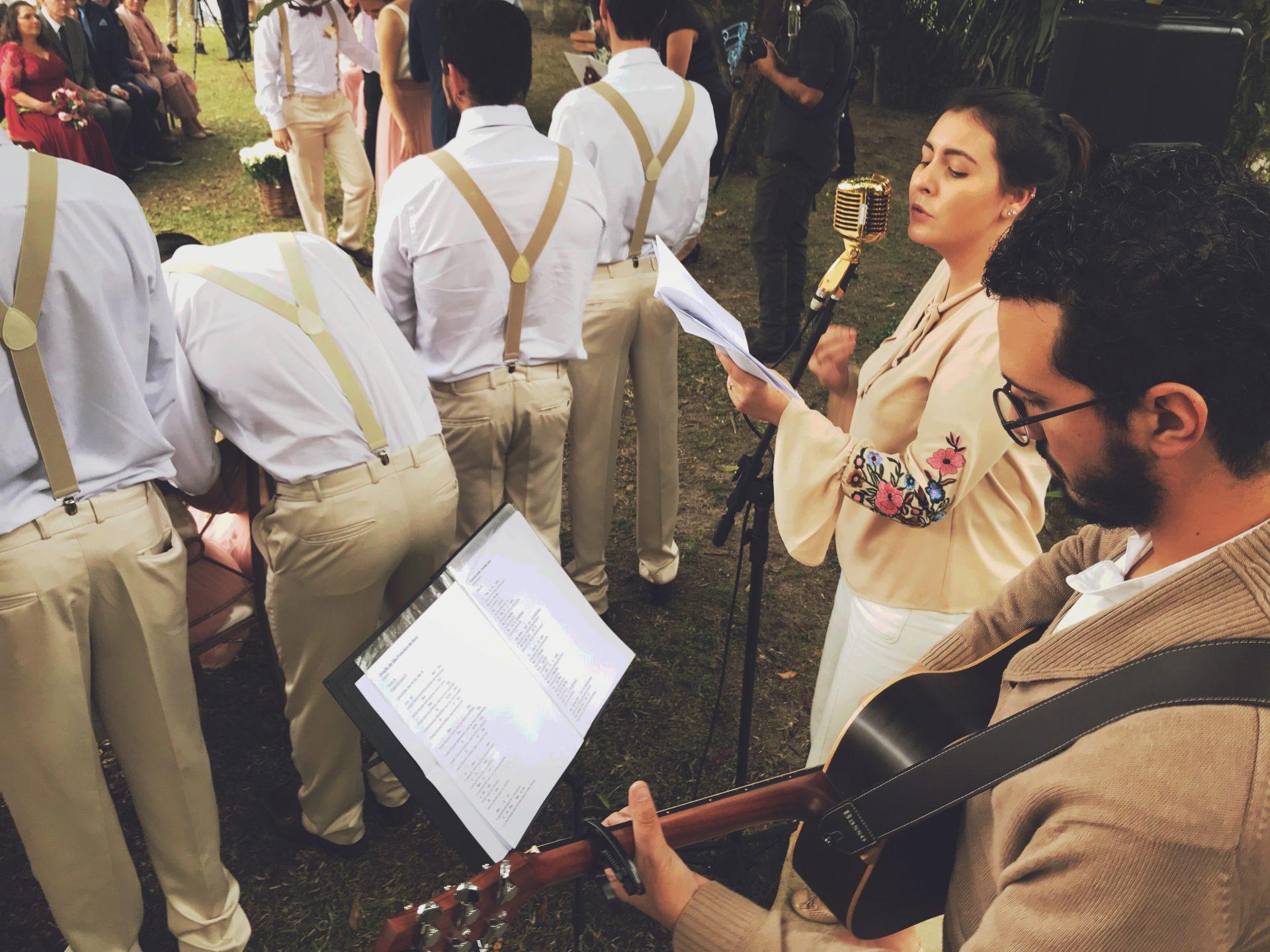 Casamento Aline e Arthur Mari e Gu Voz e Violão 4